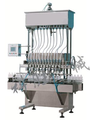 全自动12头自流式灌装机|化妆品灌装机|洗衣液灌装机